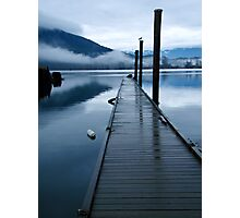 Harrison River Dock Photographic Print