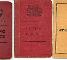 3x old style UK Driving licences by Woodie