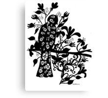 queen black bird  Canvas Print