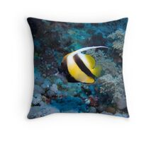 Red Sea Bannerfish Throw Pillow