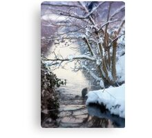Heron Winter Scene Canvas Print