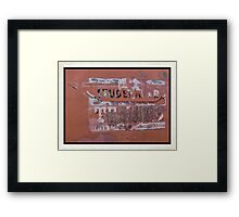 Towing Sign Print Or Poster Framed Print