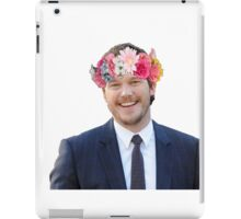 Chris Pratt with a flower crown iPad Case/Skin