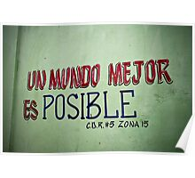 Un mundo mejor es posible Poster