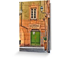 Camogli alley Greeting Card