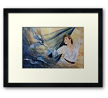 the Wisdom of the Divine Feminine being released Framed Print