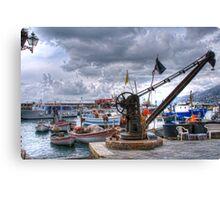 Camogli  crane Canvas Print