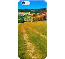 Path down and up to the village center iPhone Case/Skin