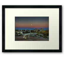 Moonrise over Table Mountain Framed Print