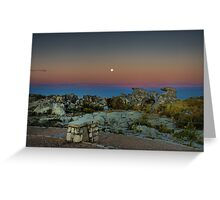 Moonrise over Table Mountain Greeting Card