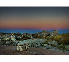 Moonrise over Table Mountain Photographic Print