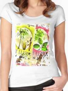 St Lucia Women's Fitted Scoop T-Shirt