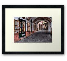 Camogli shopping Framed Print