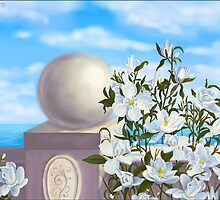 Sea view with magnolia by Victoria  _Ts