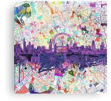 London skyline abstract Canvas Print