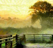 An English Country Scene in the Mist by Dennis Melling