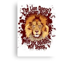 The lion doesn't concern itself with the opinions of sheep Canvas Print