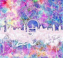 London skyline abstract 2 by BekimART