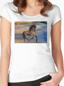 Cosmic .. Wild Stallion Women's Fitted Scoop T-Shirt
