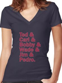 Boston Red Sox Hall of Fame Women's Fitted V-Neck T-Shirt