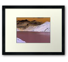 Austrian Mountains in a Psychedelic theme Framed Print