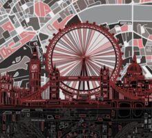 London skyline abstract 4 Sticker