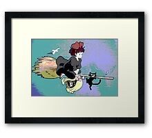 Kiki's Colourful Deliveries Framed Print