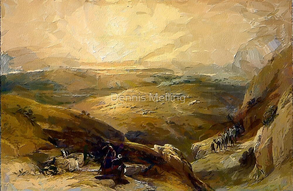 Site of Cana, Galilee, 21st April 1839  by Dennis Melling