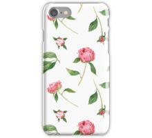 Romantic watercolor Peonies iPhone Case/Skin