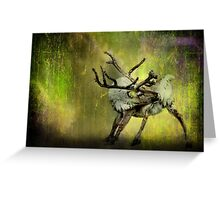 Caribou and the Northern Lights Greeting Card