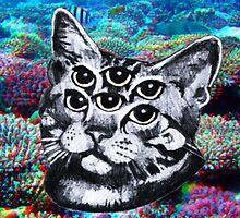 """""""TRIPPY ED"""" - The cat by bubblegumb"""