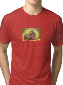 278 - PETER THE RABBIT - DAVE EDWARDS - COLOURED PENCILS & FINELINERS - 2009 Tri-blend T-Shirt