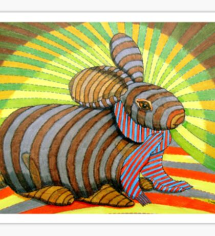 278 - PETER THE RABBIT - DAVE EDWARDS - COLOURED PENCILS & FINELINERS - 2009 Sticker