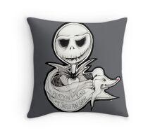 Skeleton Grin Throw Pillow