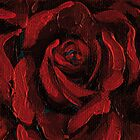 Red Rose C Greetings Card by DExWORKS