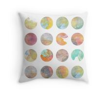Colored World Throw Pillow