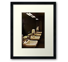 You Must wash your hands..... Framed Print