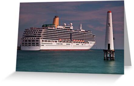 P & O Arcadia • Port Melbourne • Victoria by William Bullimore
