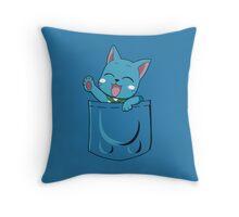 Happy Pocket Throw Pillow