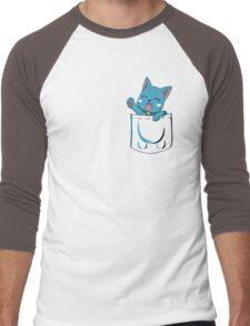 Happy Pocket Men's Baseball ¾ T-Shirt