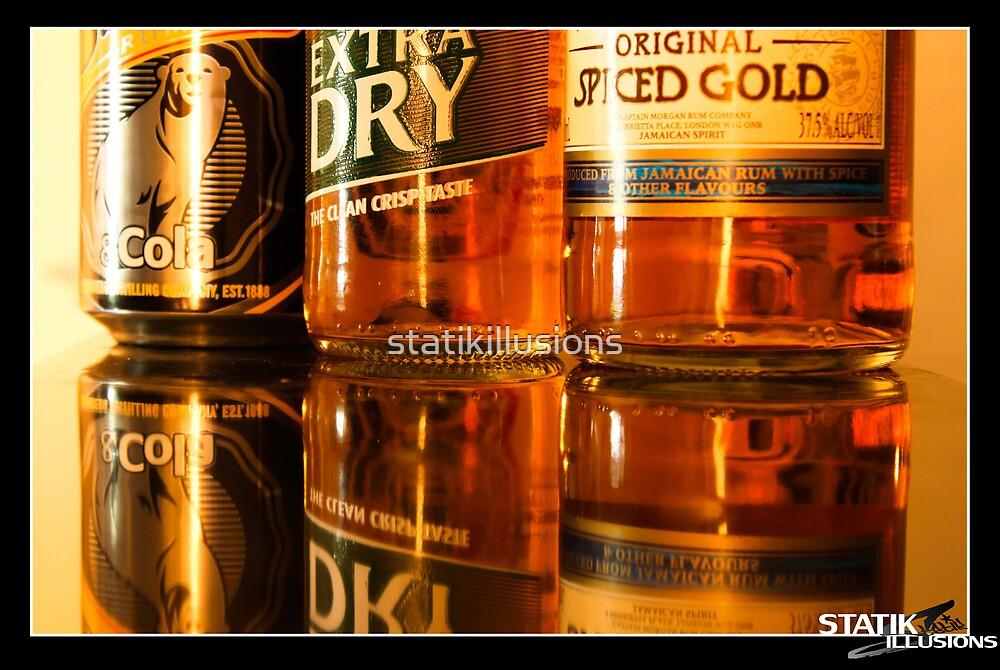 Reflecting Bottles by statikillusions
