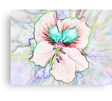 Exotic Colorful Summer Flower Metal Print