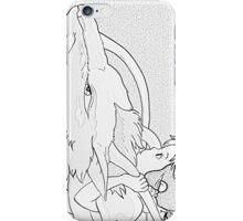 B&W Haku and Chihiro iPhone Case/Skin
