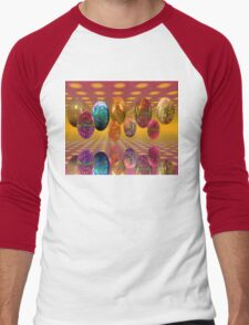 Psychedelic Easter Men's Baseball ¾ T-Shirt