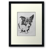 Pencil study of Young Indy Framed Print