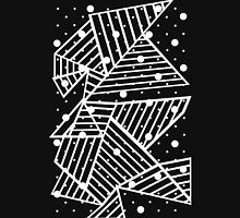 Abstraction Spots Zoom Black Unisex T-Shirt