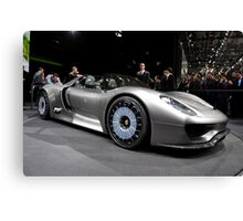 World's First Viewing of the Porsche 918 Spyder .... Canvas Print