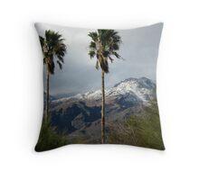 Snowfall, Santa Catalinas, Tucson, AZ Throw Pillow