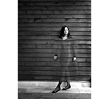 Girl on the wall Photographic Print