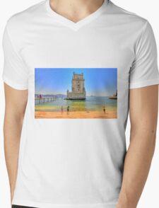 Belém colors Mens V-Neck T-Shirt